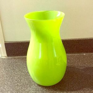 Other - Green glass vase